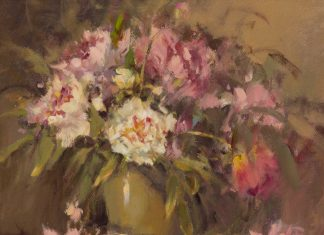 "Marilyn Yates - ""Peonies And Ginger Jar"""