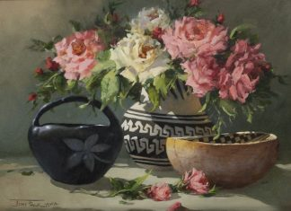 "Joni Falk - ""Rose Petals And Pottery"""