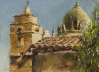 "Jack Lestrade - ""North View Of Carmel Mission"""