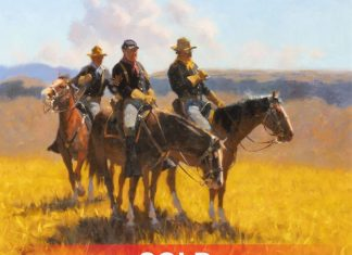 "Dan Mieduch - ""A Reconnaissance"" military cavalry horses western oil painting"