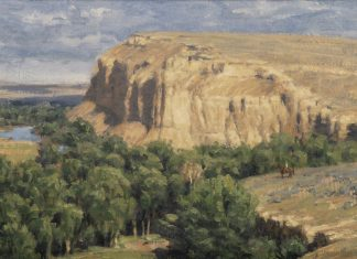 "Tucker Smith - ""Bluffs Along The North Platte Saragoga"