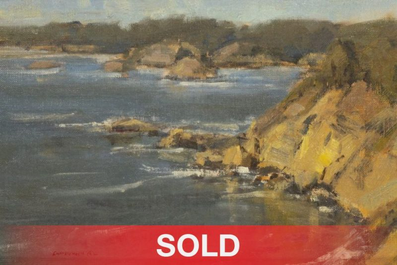 "Scott Christensen - ""Mendocino Coast"" seascape California landscape oil painting"