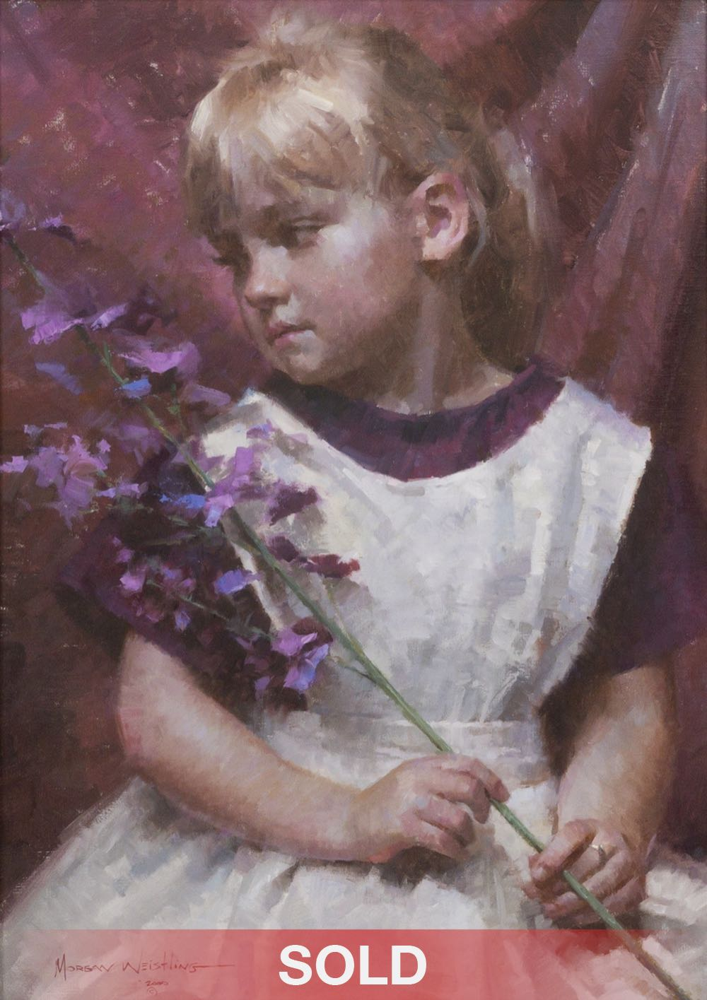 Morgan Weistling Emmie's Wish figurative figure oil painting