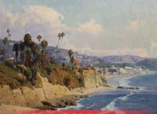Mian Situ California Coastline seascape beach ocean landscape oil painting