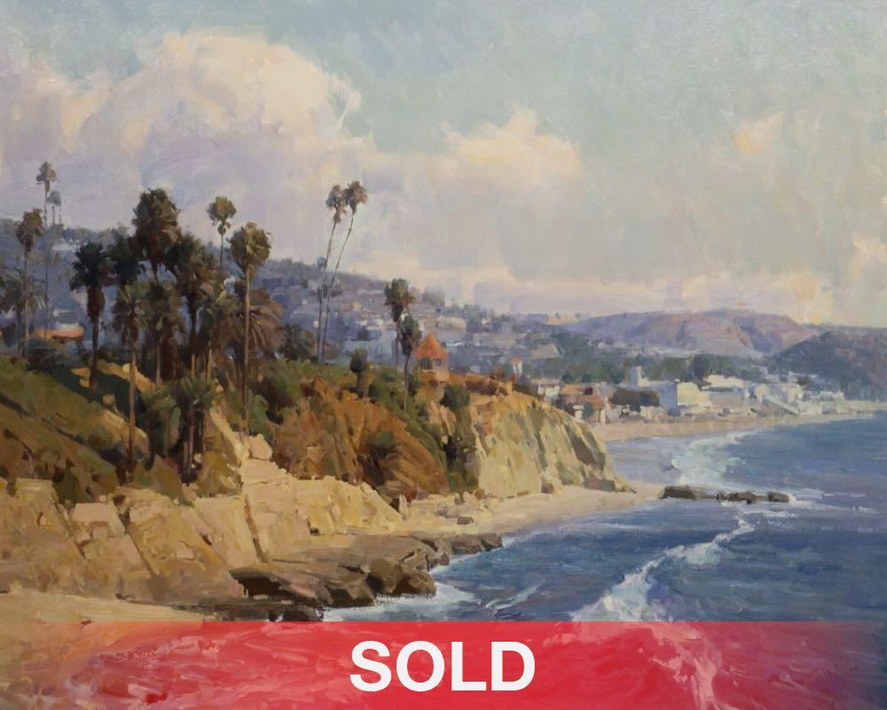 Mian Situ California Coastline seascape beach ocean landscape oil painting