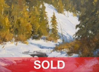 Matt Smith Willow Creek Snow Colorado western landscape oil painting