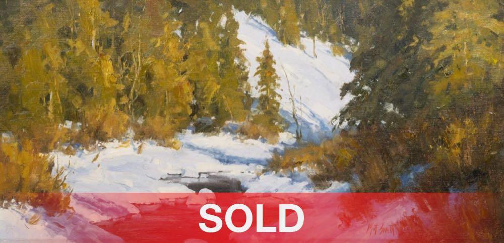 Matt Smith Willow Creek Snow Colorado western landscape oil painting