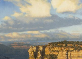 "John Cox ""Canyon Sunset"" Grand Canyon western landscape oil painting"