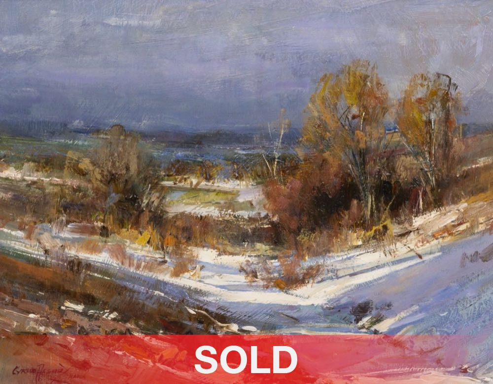 Cyrus Afsary Bright Snow western landscape oil painting