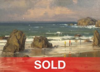 Scott Christensen Salt In The Air seascape oregon coast beach sand landscape oil painting