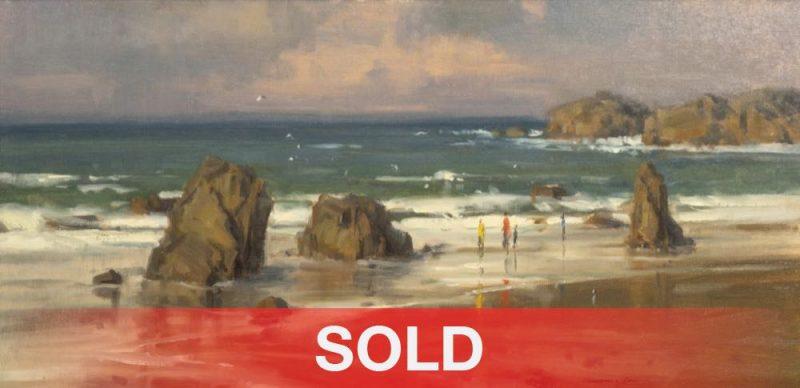 Scott Christensen Salt In The Air seascape oregon coast beach sand landscape oil painting