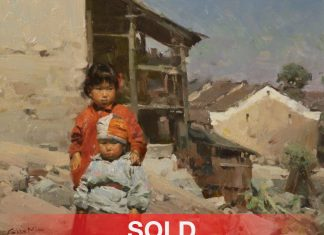 """Mian Situ - """"In The Yao Village"""" Asian oil painting"""