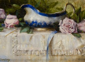 "Jean Chambers - ""French Roses And Gravy Bowl"""