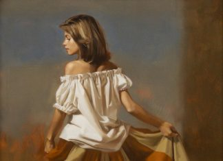 "William Whitaker   (1943 - 2018) - ""Jodie Darby In The Fields"""