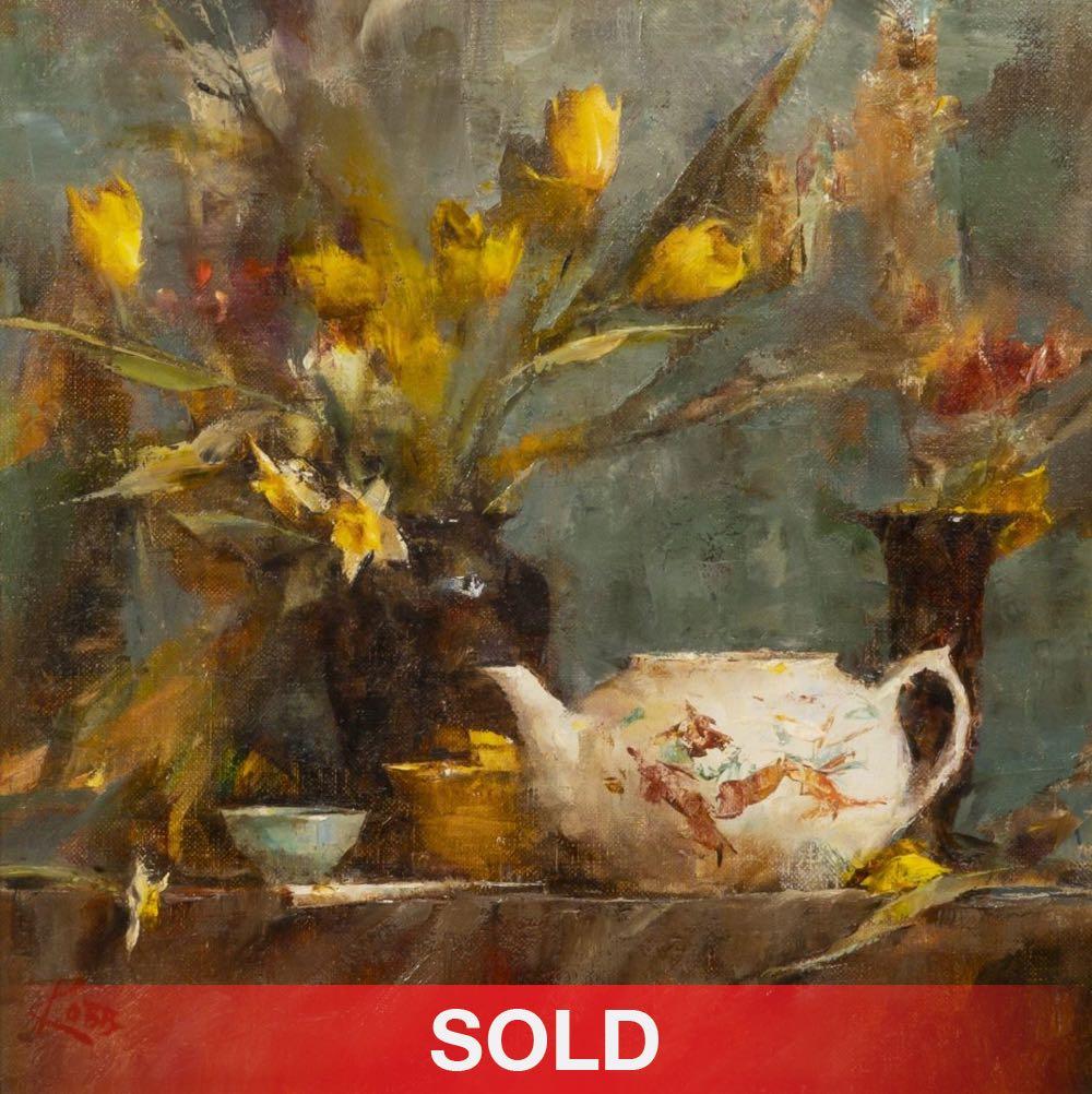 Laura Robb still life oil painting