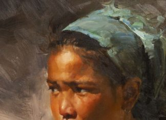 "Mian Situ - ""Observer"" Asian girl portrait"