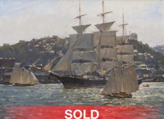 Christopher Blossom Down-Easter nautical sea boat oil painting