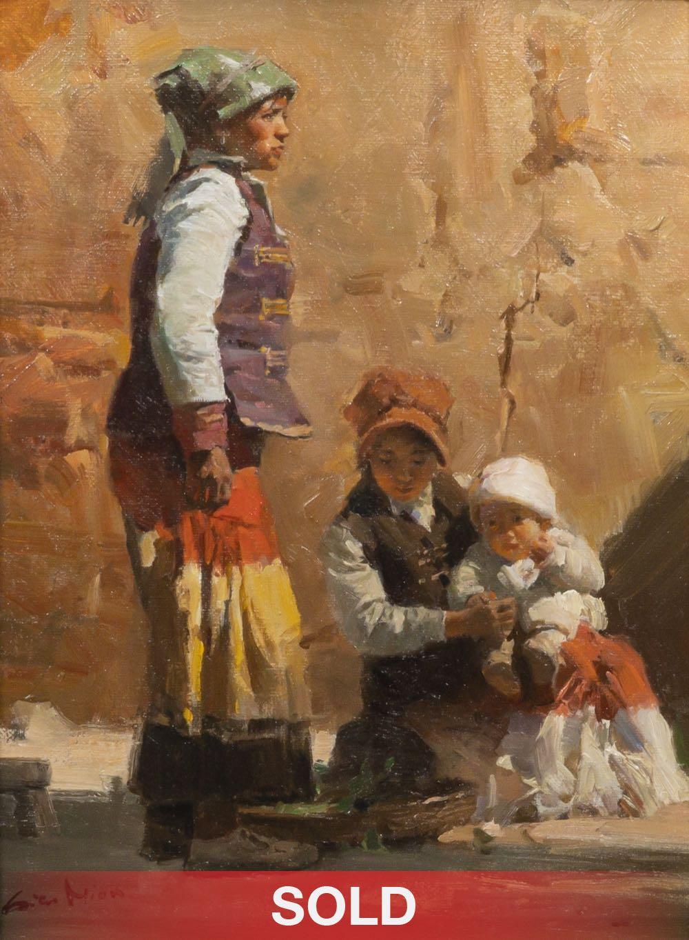 Mian Situ Yi Family figurative Asian children oil painting