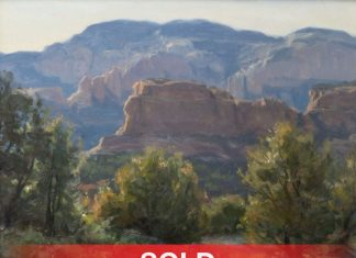 "Clyde Aspevig - ""Boynton Canyon"" Sedona, Arizona western landscape oil painting"