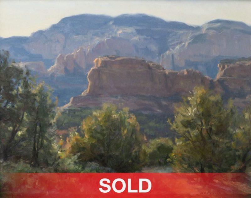 "Clyde Aspevig ""Boynton Canyon"" Sedona Arizona landscape mountains red rocks western landscape oil painting"