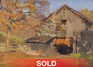 Kevin Macpherson Kentucky Tabacco Barn farm building country western oil painting