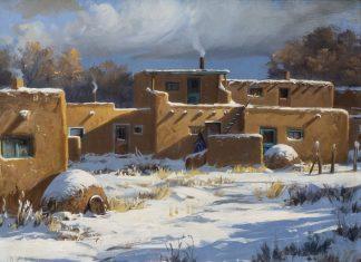 """Joni Falk - """"Taos Pueblo - Winter"""""""