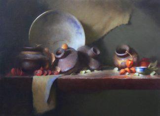 David Riedel Clay Vessels still life still-life oil painting