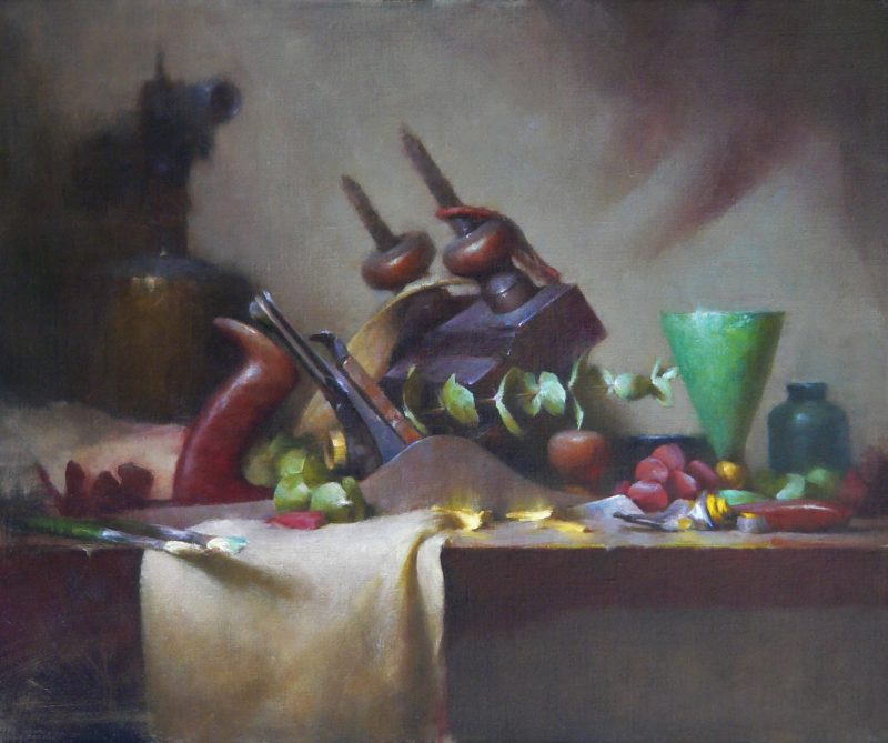 David Riedel Tools still life oil painting