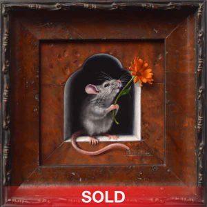 Marina Dieul Juste Un Petit Souci mouse mice rat oil painting wildlife