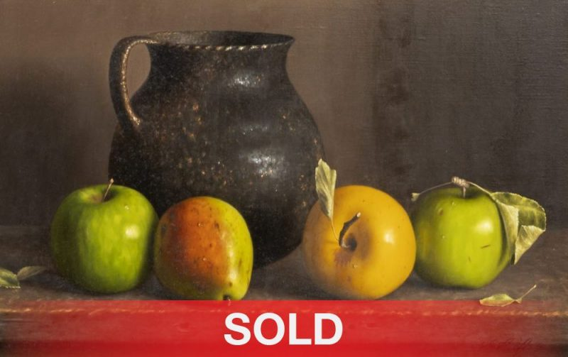 """William Acheff - """"Apples And Pears"""" western still life oil painting fruit"""