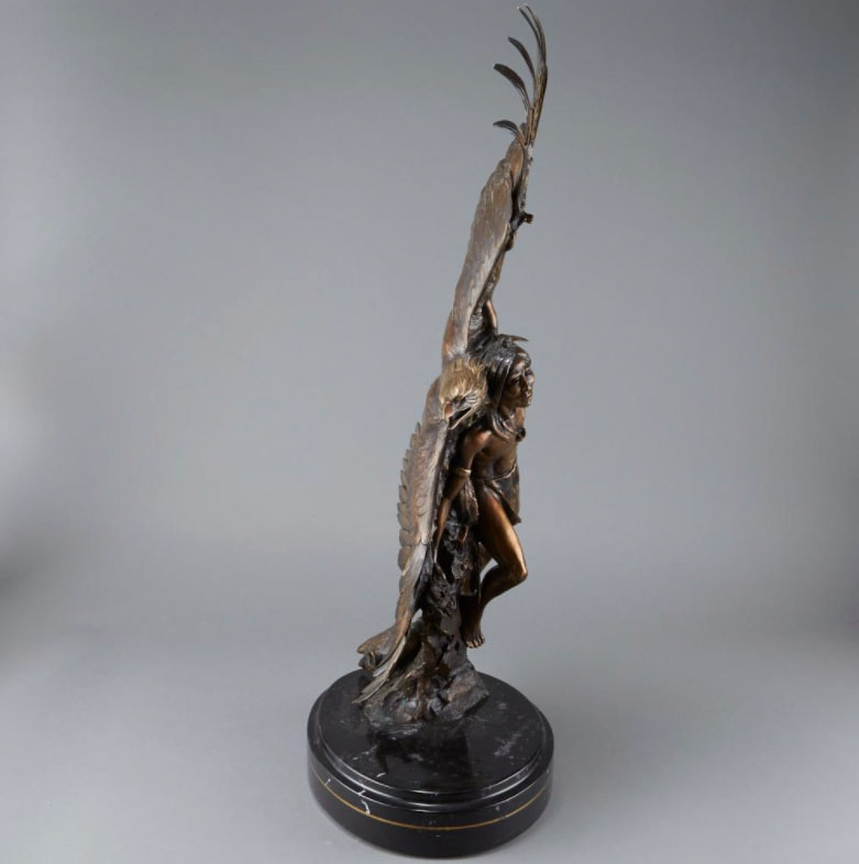 Ken Rowe Susan Kliewer Native American eagle bronze sculpture western