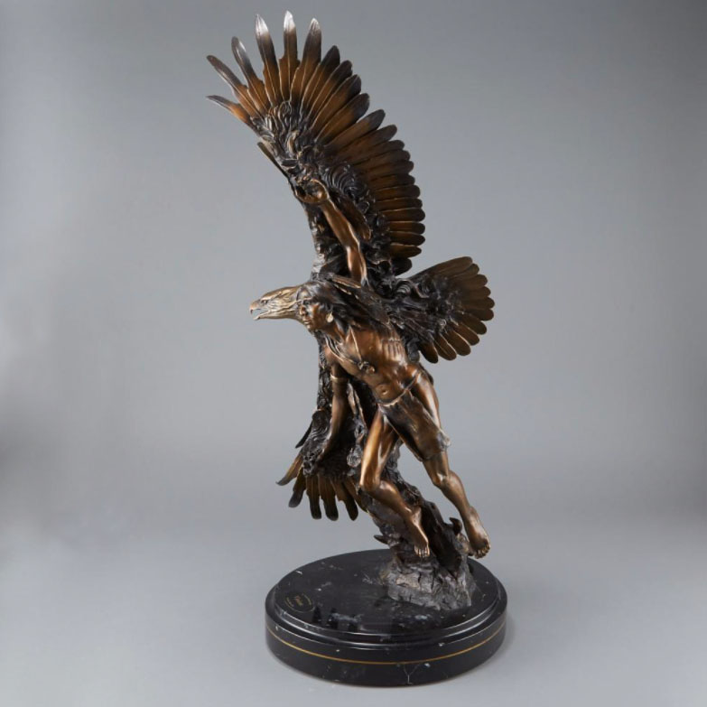 Ken Rowe Susan Kliewer Vision bronze sculpture Native American eagle