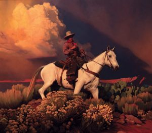 Mark Maggiori Electric Desert cowboy western oil painting