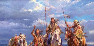 Martin Grelle Offerings On The Wind Native American western oil painting