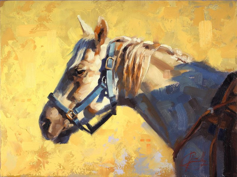 Jim Connelly Summer Sunset horse portrait western oil painting