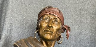 Susan Kliewer Keeper Of The Eagle Native American bronze sculpture western