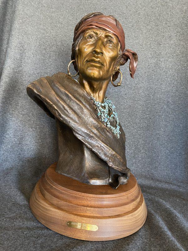 Susan Kliewer Keeper Of The Eagle Native American bronze sculpture western