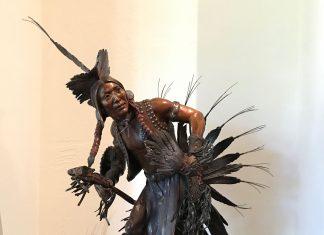 Susan Kliewer Proud Traditions Native American dance western bronze sculpture