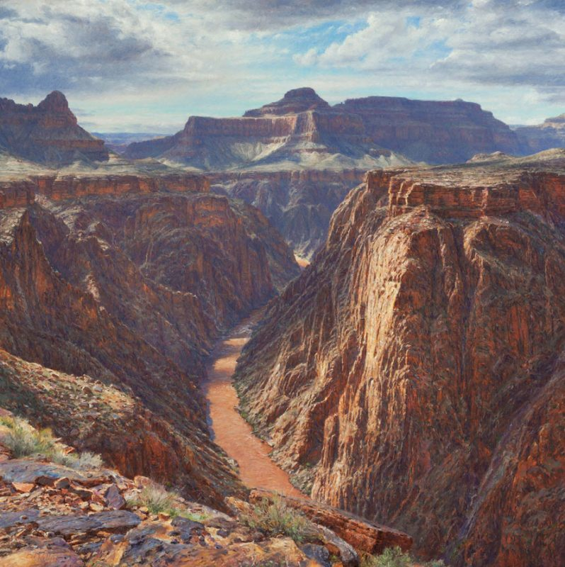 Curt Walters A Chasm Of Sublime Plateau Point Grand Canyon Colorado River western landscape oil painting