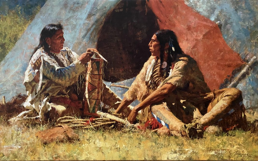 Howard Terpning The Bonnet Case textured canvas print Giclee