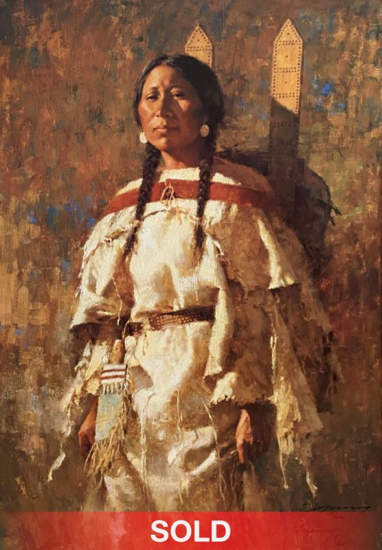 Howard Terpning Cheyenne Mother Native American canvas print giclee
