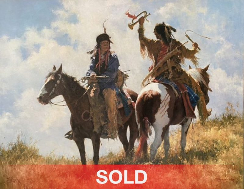 Howard Terpning The Trophy Native American western canvas print giclee