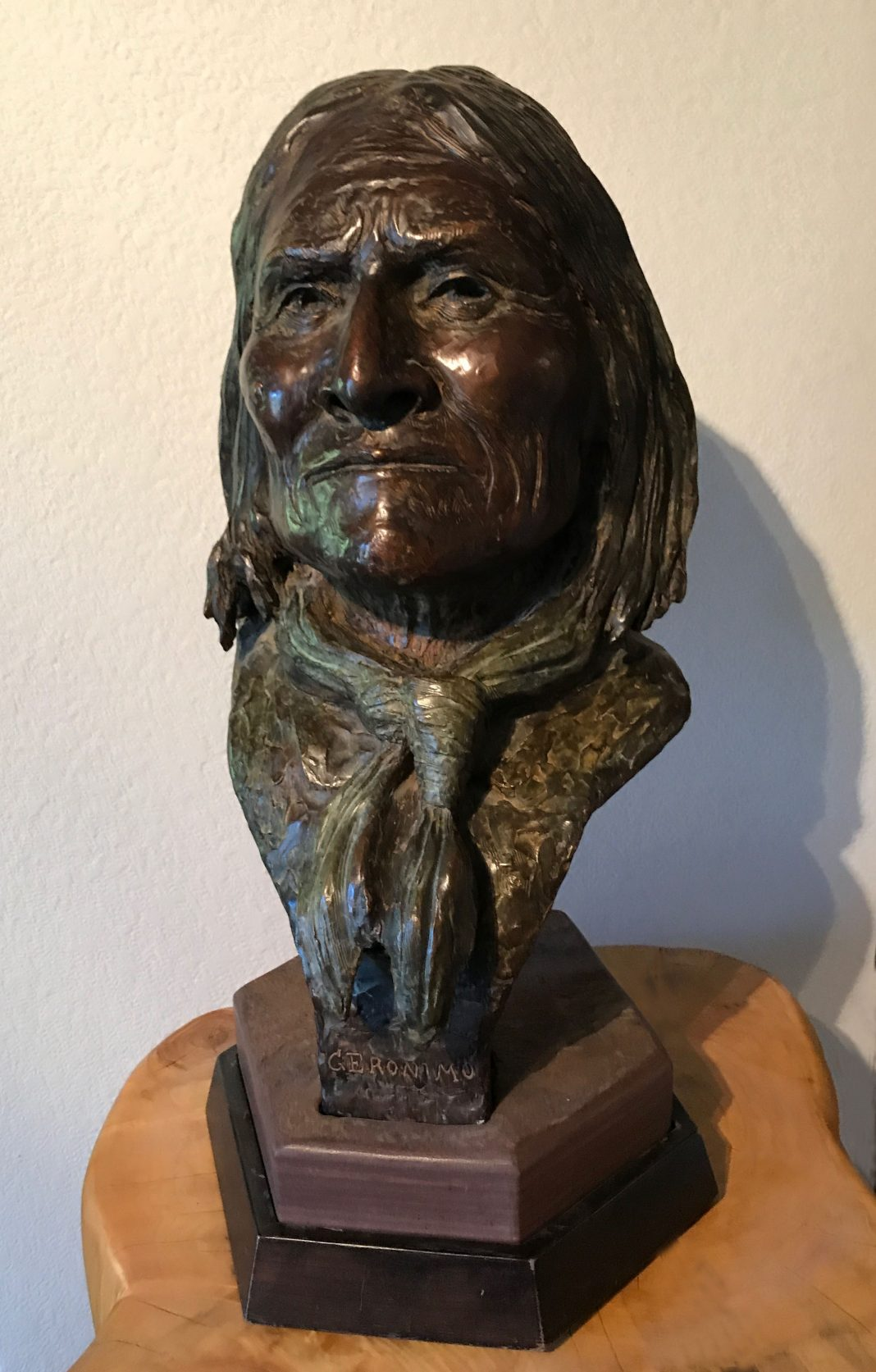 Joe Beeler Geronimo Native American portrait bronze sculpture western art