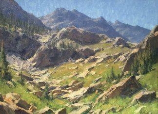 Matt Smith Spanish Peaks Wilderness mountain rocks landscape oil painting