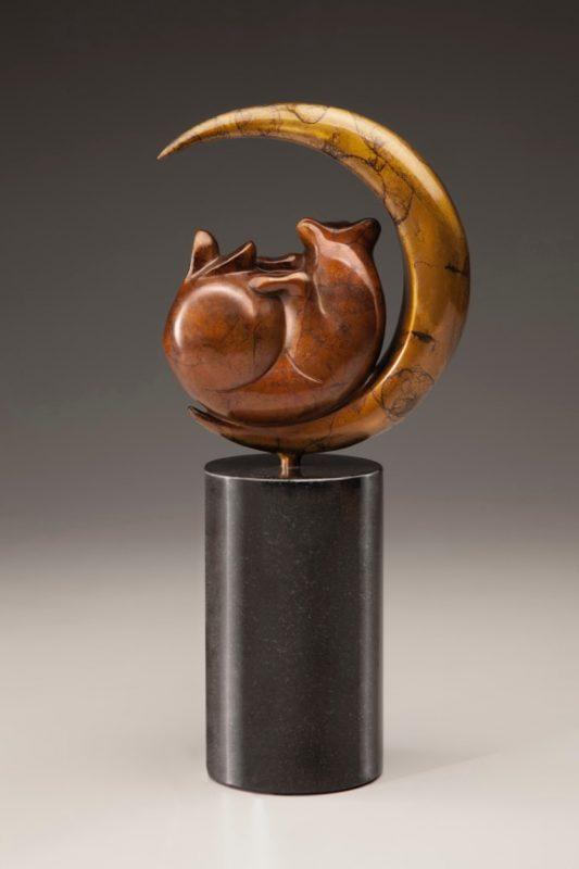 "Tim Cherry ""Luna Bear"" bronze wildlife sculpture back"