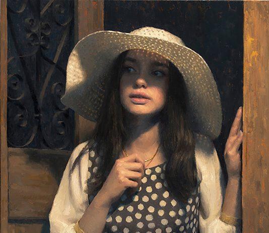 Damian Lechoszest Threshold figure figurative oil painting