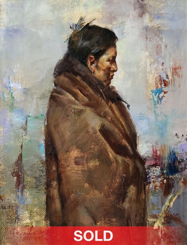 Cyrus Afsary Native Elder Native American portrait western oil painting
