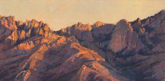 "Darcie Peet ""Catalina Rose"" desert mountain western landscape oil painting Tucson Arizona"