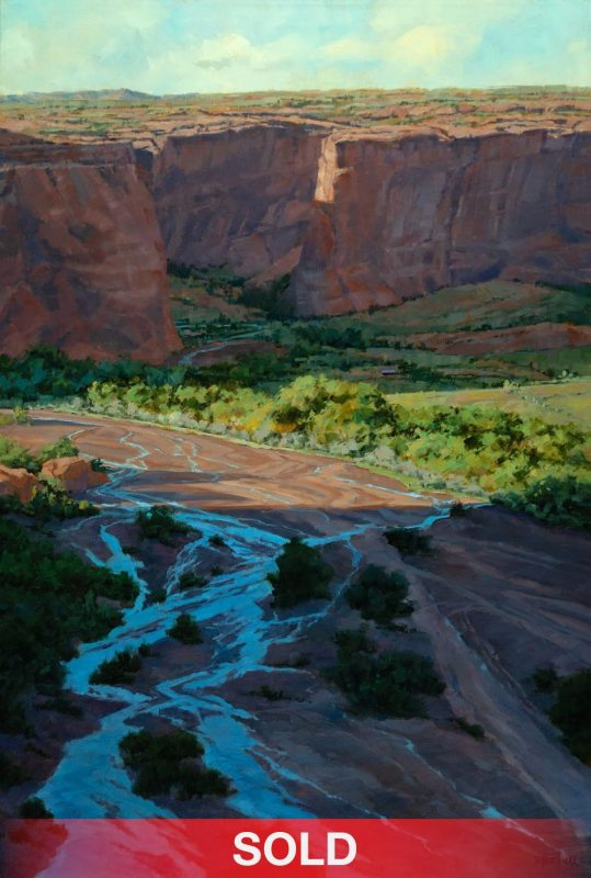 Darcie Peet Meander Through History Canyon de Chelly western oil landscape painting sold