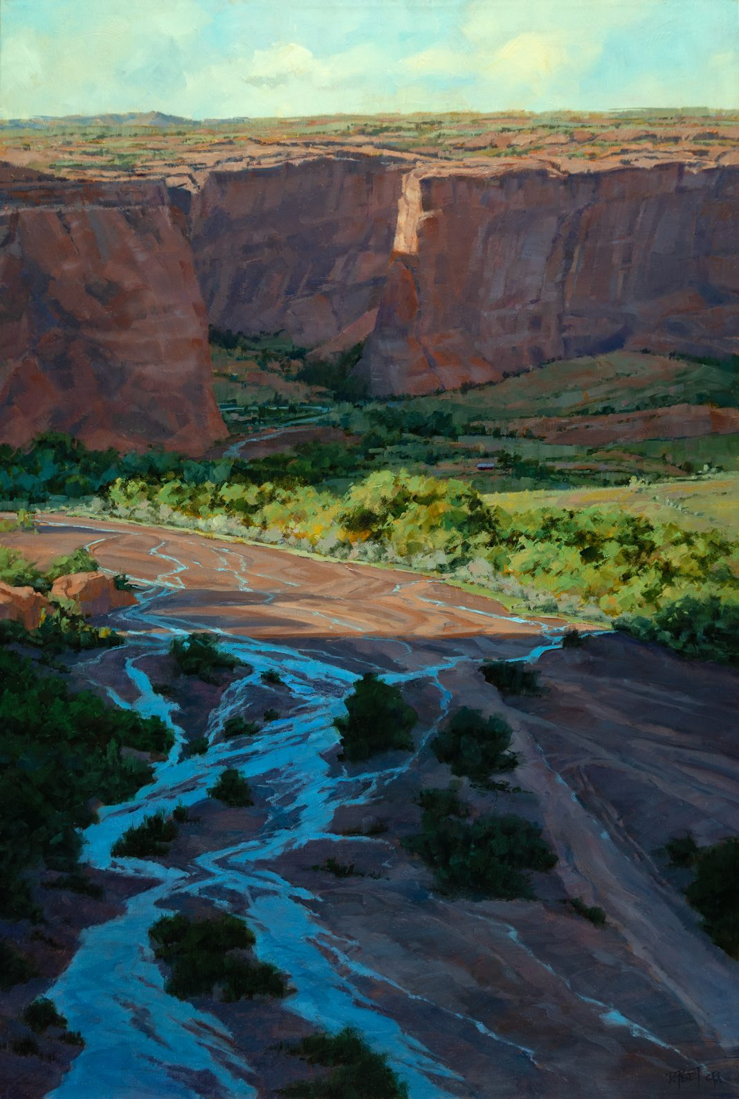 Darcie Peet Meander Through History Canyon de Chelly western oil landscape painting